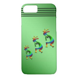 Green Swirl Kokopelli on Green iPhone 8/7 Case