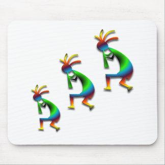 Green Swirl Kokopellis Mouse Pad