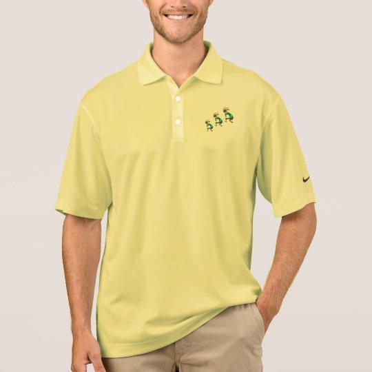 Green Swirl Kokopellis Polo Shirt