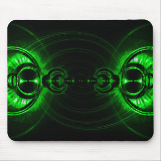 Green Swirl Lens Flare Mouse Pad