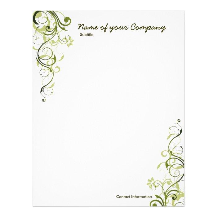 Green Swirl.. Letterhead