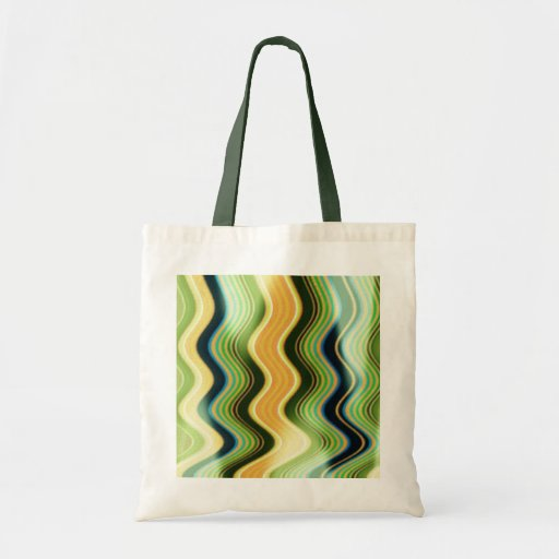 Green Swirl Lines Bag