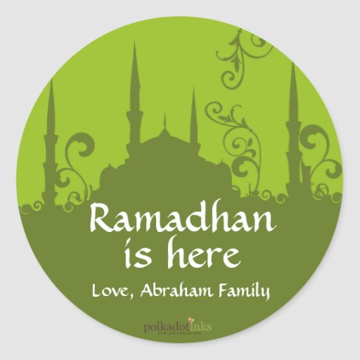 Green Swirl Mosque Stickers