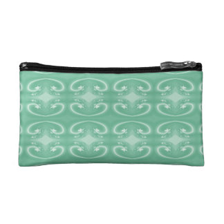 Green Swirl Pattern. Makeup Bag