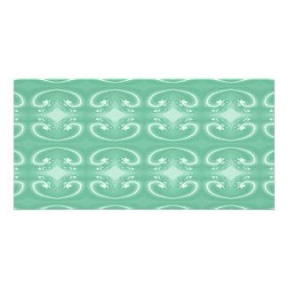 Green Swirl Pattern. Custom Photo Card