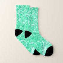 Green Swirl Pattern Socks