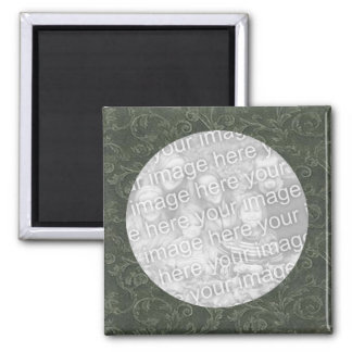 Green Swirl Photo Magnet Template