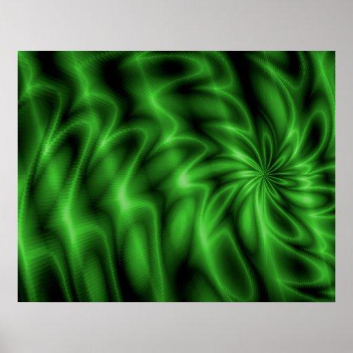 Green Swirl Poster