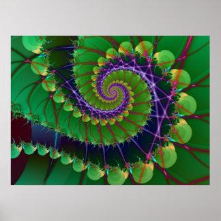 Green Swirl Print