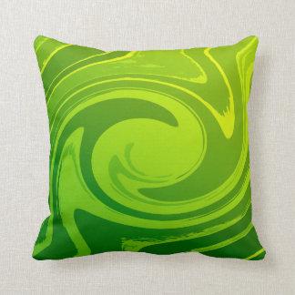 Green Swirl Sprite Cute Lovable Pillow
