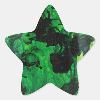 Green Swirl Star Sticker