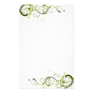Green Swirl Stationery