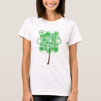 Green Swirl Tree T-Shirt