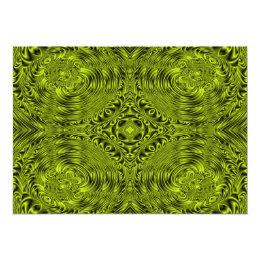 Green swirl warp background card