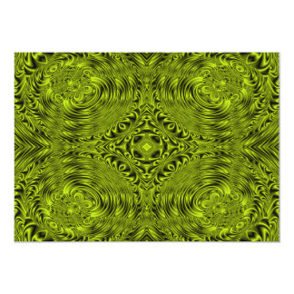 Green swirl warp background card