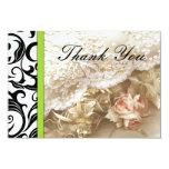 Green Swirl Wedding Thank You Card