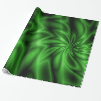 Green Swirl Wrapping Paper