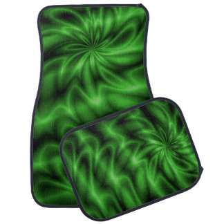 Green Swirl Floor Mat