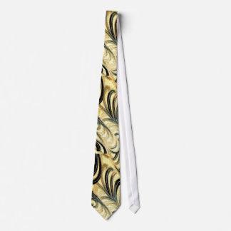 Green Swirled Vintage Silk  Pattern Tie