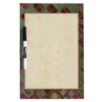 Green Swirls and Earth Tones Dry Erase Board