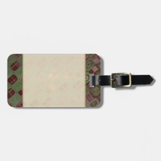 Green Swirls and Earth Tones Luggage Tag