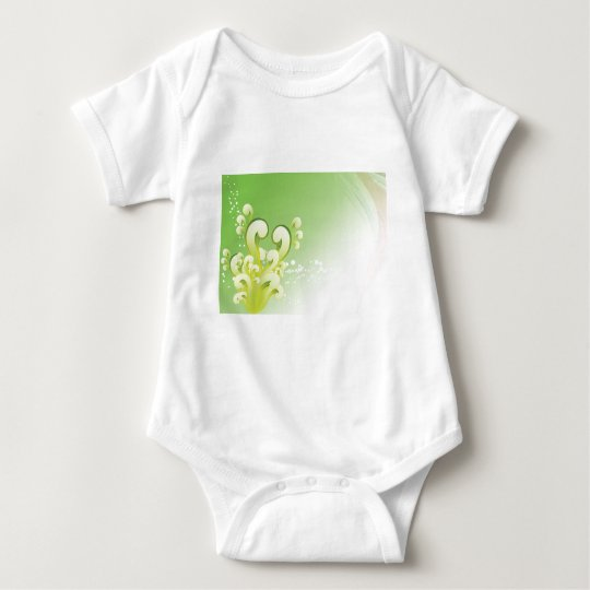 Green Swirls Baby Bodysuit