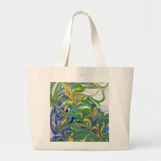 Green Swirls Bag