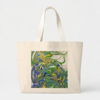 Green Swirls Bag