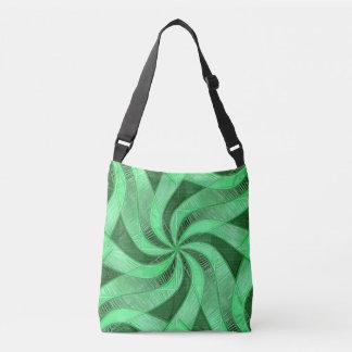 Green Swirls Crossbody Bag