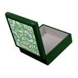 Green Swirls Design Jewelry Box