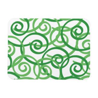Green Swirls Design Magnet