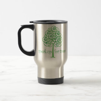 Green Swirls Design Travel Mug