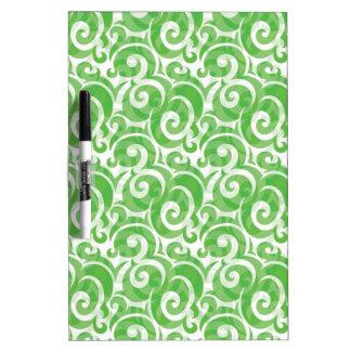 Green Swirls Dry-Erase Board