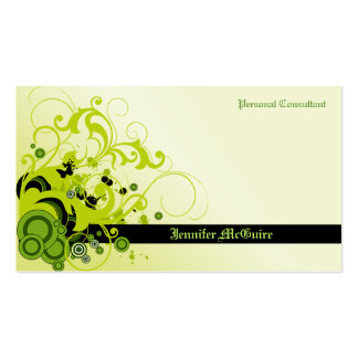 Green Swirls Grunge Business Card TBA 3/31/2011