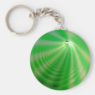 Green Swirls Keychain