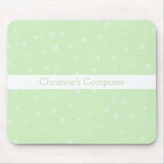 Green Swirls Mousepad