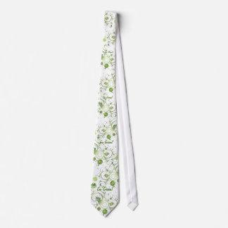 Green Swirls Neck Tie