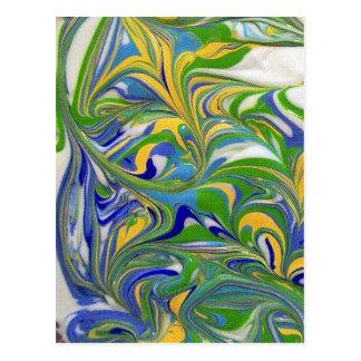 Green Swirls Postcard