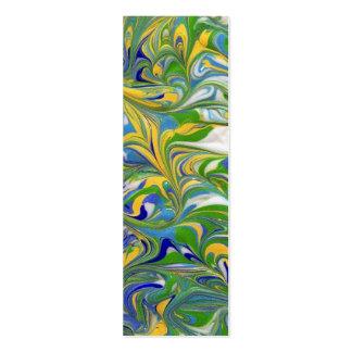 Green Swirls Profile Card or bookmark