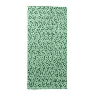 Green Swirly Vines Cloth Napkins (set of 4)