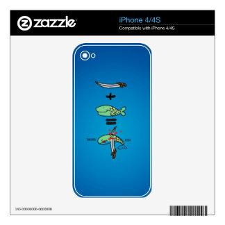 Green Sword Fish iPhone 4S Decal