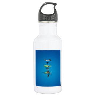 Green Sword Fish Stainless Steel Water Bottle