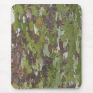 Green sycamore bark mouse pad