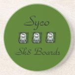 Green Syco Sk8 coaster
