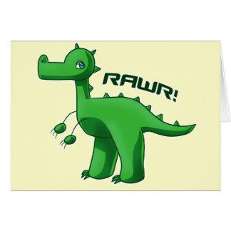 Green T-Rex Greeting Card