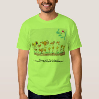 """GREEN T-SHIRT """"Chickens"""" (PICTURE IN FRONT)"""