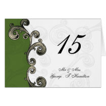 green table seating card