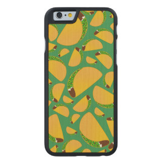 Green tacos carved maple iPhone 6 slim case