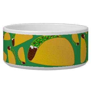 Green tacos dog water bowls