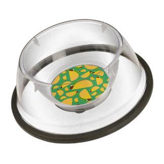 Green tacos pet bowl